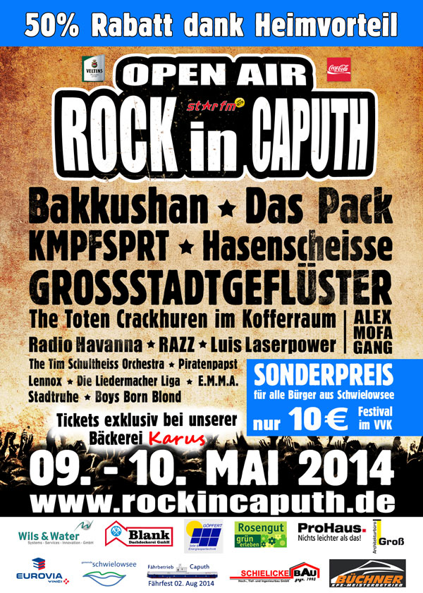 Schwielowsee Ticket Rock in Caputh 2014 Heimvorteil